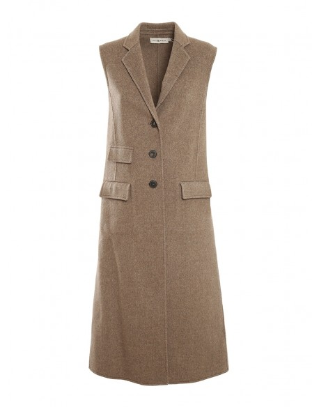 DOUBLE FACED WOOL VEST 84316